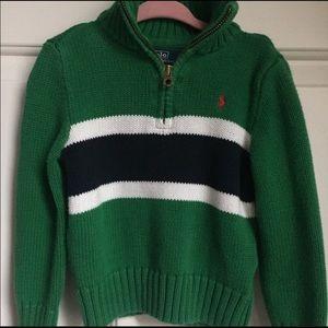 Boys quarter-zip Ralph Lauren polo sweater